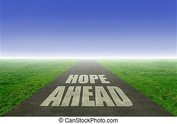 à frente, esperança