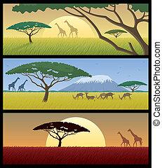 áfrica, paisagens
