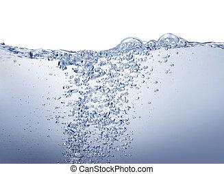 água azul, branca, limpo