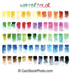 água, experiência., abstratos, cor