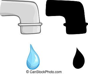 água, gotejando