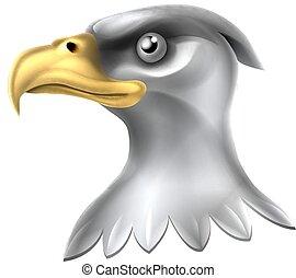 águia, cabeça, desenho