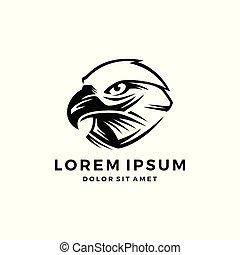 águia, cabeça, logotipo