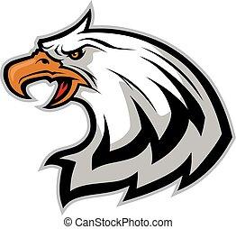 águia, cabeça, mascote