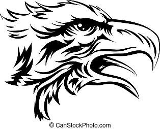 águia, cabeça