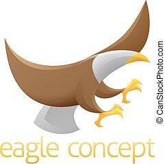 águia, conceito, desenho