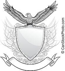 águia, emblema, escudo