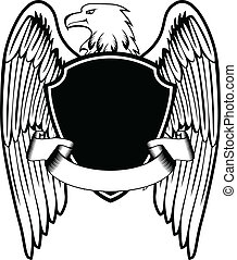 águia, escudo