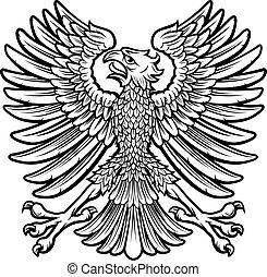 águia, estilo, imperial