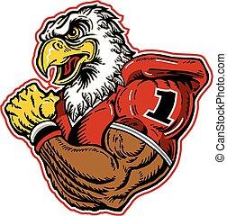 águia, futebol, mascote