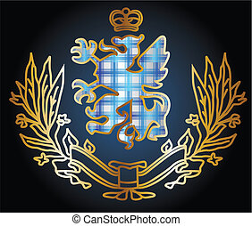 águia, heraldic, emblema, deslumbrante