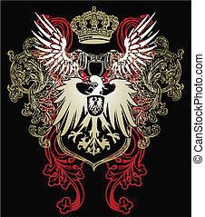 águia, heraldic, emblema