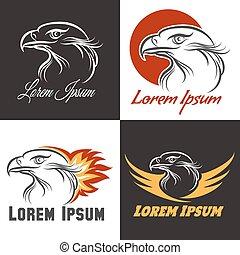 águia, jogo, emblema