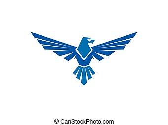 águia, mascote, vetorial, falcão, logotipo