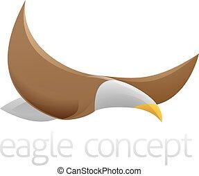 águia, voando, desenho
