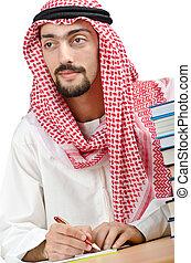 árabe, conceito, educação, jovem