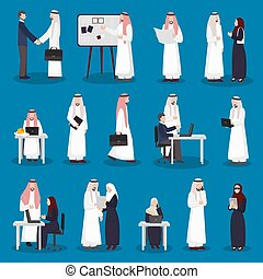 árabe, jogo, caráteres negócio