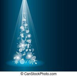 árvore abeto, cartão natal