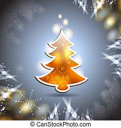 árvore, cartão natal, pinho