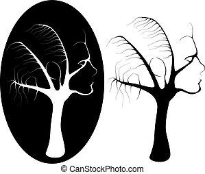 árvore, femininas