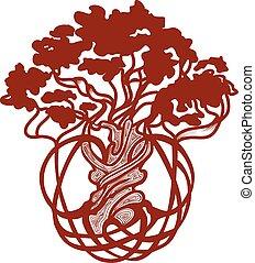 árvore, mundo, celta