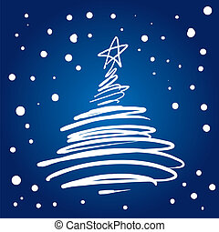 árvore, natal, (vector)