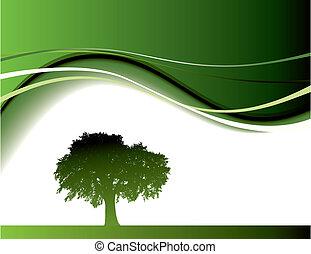 árvore verde, fundo