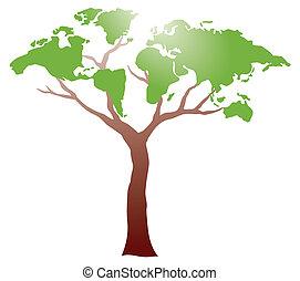 árvore, worldmap