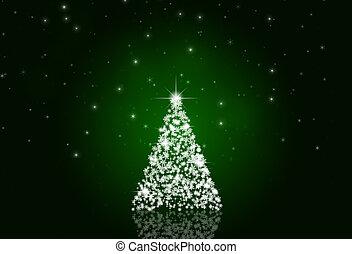 árvore, xmas, neve