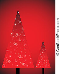 árvores, natal, abstratos