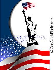 –, unidas, image., águia, americano, 4th, estados, bandeira, vetorial, america., julho, dia, independência
