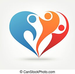 ícone, amor, família