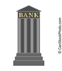 ícone, banco, ilustração, vetorial