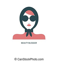 ícone, blogger, moda