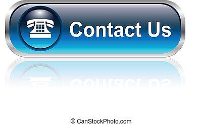ícone, botão, contactar-nos