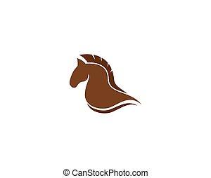 ícone, cavalo, vetorial