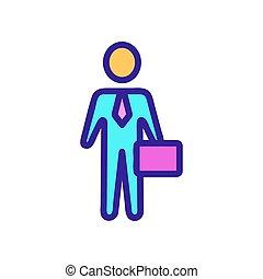 ícone, contorno, firma, ilustração, símbolo, isolado, diretor, vector.