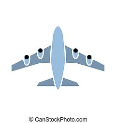 ícone, decolagem, avião