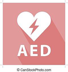 ícone, defibrillator