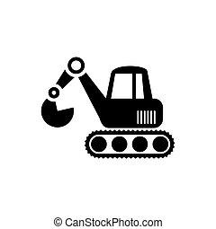 ícone, escavador