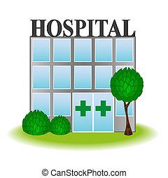 ícone, hospitalar, vetorial