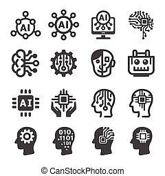 ícone, inteligência artificial