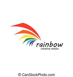 ícone, logotipo, arco íris, vetorial