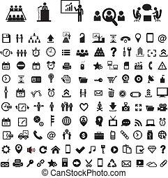 ícone, negócio, jogo