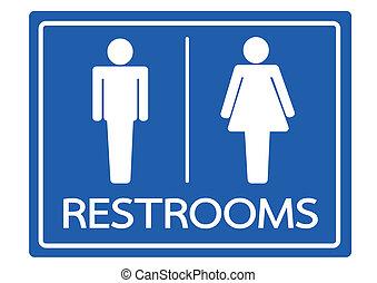 ícone, restroom, símbolo feminino, macho