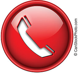 ícone, telefone, button.