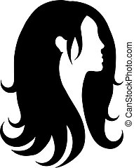 ícone, vetorial, cabelo