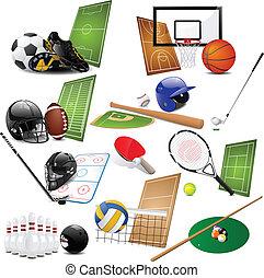 ícones, desporto