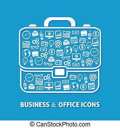ícones escritório, pasta