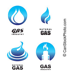 ícones, gás